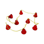 MuLuo 1M 8bells 2.2CM String of Decorative Christmas Bells for christmas tree Home decoration red