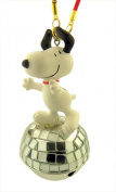 Snoopy Dancing on Disco Ball Jingle Bell Christmas Ornament, 8.9cm