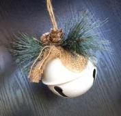 White Bell Christmas Ornament
