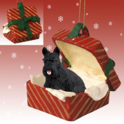 Conversation Concepts Scottish Terrier Gift Box Red Ornament by Eyedeal Figurines
