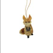 9.5cm Storybook Garden Bristled Burnt Orange and Brown Fox Christmas Figure Ornament