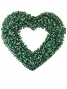 St. Patricks Day Gingham Metallic Shaped Heart