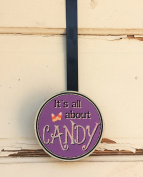 AG Designs Halloween Decor - Wreath Door Hanger Hook All About the Candy