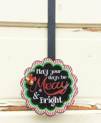 AG Designs Christmas Decor - Decorative Wreath Door Hanger - Merry Bright 419/08