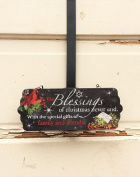 AG Designs Christmas Decor - Decorative Wreath Door Hanger - Blessings 4-19/12