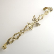 Brass 43cm H Guardian Angel Wreath Hanger - Set of 2