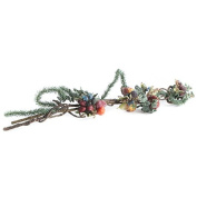 Factory Direct Craft® Holiday Artificial Icy Fruit Swag for Event Decor, Interior Design, and Crafting