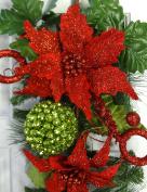 60cm Christmas Poinsettia Teardrop
