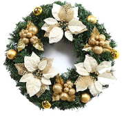 ZZYDECOR-Fashion Creative Christmas Home Decor Christmas Wreath Garland for Outdoor and Indoor Decoration,,35CMred