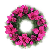 ZZYDECOR-Fashion Creative Christmas Home Decor Christmas Wreath Garland for Outdoor and Indoor Decoration,60cm