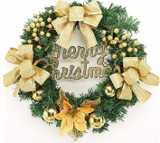 ZZYDECOR-Fashion Creative Christmas Home Decor Christmas Wreath Garland for Outdoor and Indoor Decoration,,gold