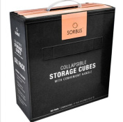 6 Pack Sorbus Foldable Storage,Save on space, lightweight solutions ,Cube Basket Bin,Black