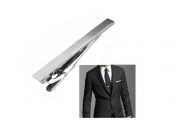 Men Stainless Steel Formal Simple Necktie Tie Bar Clasp Pinch Clip Clamp Sliver Colour