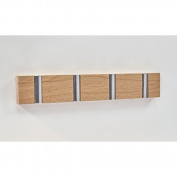 Coat Hanger - Hideaway Square Hanger Beech, 4-Hooks, Brown Colouring, Made of Wood and Metal