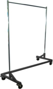 Only Hangers Heavy Duty Adjustable Height Z Rack with Nesting Black Base, 400+ LBS Load Capacity