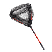 Lixada Fly Fishing Triangle Brail Landing Net Portable Foldable Lightweight Net Nylon Fishing Net Aluminium Alloy Frame