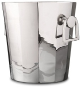 Silver Chrome Octagon Ice Bucket Metal | Wine Chiller Handles Round