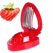 Stainless Steel Novelty Mini Fruit Strawberry Slicer Cutter Kitchen Cutting Gadgets Tool