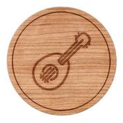 Ukulele Circle Magnet, Round Magnet, 5.1cm Refrigerator Magnet