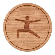 Yoga Warrior Pose Circle Magnet, Round Magnet, 5.1cm Refrigerator Magnet