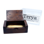 Natural Handmade Teak Wood Portable Toothpick Holder Mini Wood Box Terya Pocket Toothpick Holder