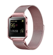 For Fitbit Blaze Bands,UMFun Milanese Magnetic Stainless Steel Watch Band + Metal Frame For Fitbit Blaze L