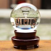 Rayinblue 100mm Stand Crystal Ball Asian Natural Quartz Clear Magic Crystal Healing Ball