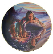 Mystic Reflections Cloak Of Visions Andrew Farley Native American Woman Plate CP2565
