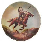 The Last Sunset The Last Warriors Plate Collection Chuck Ren Native American CP2549