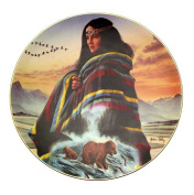 Springtime Hunters Cloak Of Visions Andrew Farley Native American Woman Plate CP2566