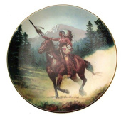 Victorys Reward The Last Warriors Plate Collection Chuck Ren Native American Plate CP2546