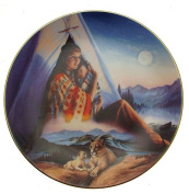 Protector Of The Child Cloak Of Visions Andrew Farley Native American Woman Plate CP2564