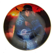 Visions In A Full Moon Cloak Of Visions Andrew Farley Native American Woman Plate