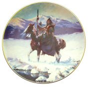Lone Winter Journey The Last Warriors Plate Collection Chuck Ren Native American