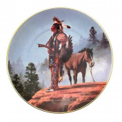 Solemn Reflection The Last Warriors Plate Collection Chuck Ren Native American Plate CP2545
