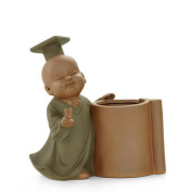 Colour Sand Pottery Tea Creative Large Number Of Fine Characters Pen Holder Tea Tray Accessories