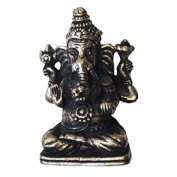 Mini Ganesh Statue Silver-Plated Metal 2 x 3 cm - Pack of 3