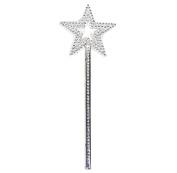 AKOAK Star Wand,33cm Silver Fairy Princess Angel Wand