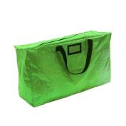 60cm Green Zip-Up Wreath Christmas Holiday Storage Organiser