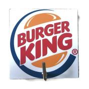 Agility Bathroom Wall Hanger Hat Bag Key Adhesive Wood Hook Vintage Burger King Hamburger Logo's Photo