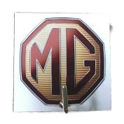Agility Bathroom Wall Hanger Hat Bag Key Adhesive Wood Hook Vintage MG Car Logo's Photo