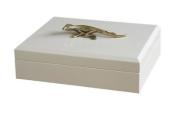 Boutique Lizard Trinket Box | Gold White Reptile Animal Gift