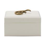 Boutique Snake Trinket Box | Gold White Reptile Animal Gift