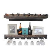 DAKODA LOVE - Rustic Luxe Tiered Wine Rack, USA Handmade, Pine wood