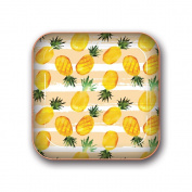 Studio Oh! Small Metal Catchall Tray, Pineapple Delight