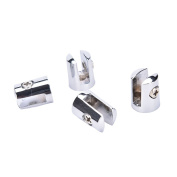 Round Shelves Support Brackets Clamps Clips for 4-6mm Glass Wooden Acrylic Pack of 4