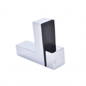 Adjustable Stainless Steel Shelf Holder Bracket for Glass Wood Shelves Rectangle prop glass clip 128g