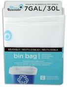 Blue Avocado White 26.5l Reusable Bin Bag