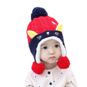 TBS Animal Baby Toddler Warm Knitted Fleece Hats