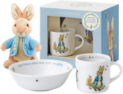 Beatrix Potter Peter Rabbit 'Boys' 2 Piece Gift Set (by Wedgwood) with Toy